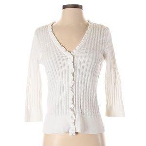 Jeanne Pierre Cardigan White Sweaters
